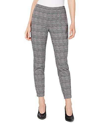 Maison Jules Menswear Plaid Ankle Pants (Black Combo, 14)