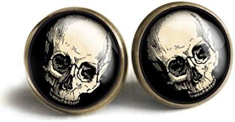 Human Skull Stud Earrings product image