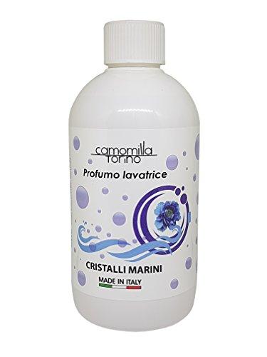 Parfüm für die Waschmaschine, Duft für die Waschmaschine, 500 ml, Wäscheduft, Wäscheparfüm, Made in Italy (Cristalli Marini)