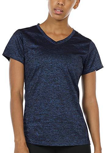 icyzone - Fitness-T-Shirts für Damen in Royalblau, Größe L