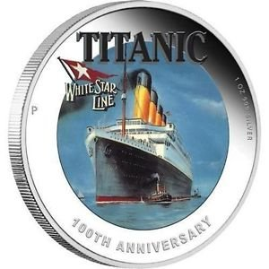 $1 100th Anniversary of RMS TITANIC White Star Line 1 Oz Silver Coin
