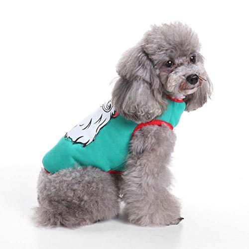 KSITH huisdier geladen hond kleding Halloween huisdier jas pompoen rol spelen kostuum kerst oude jas, XL, J