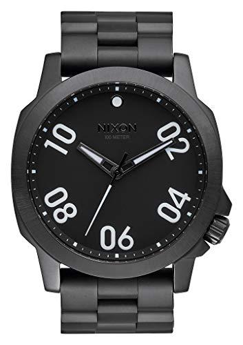 Nixon Herren Analog Quarz Uhr mit Edelstahl Armband A521001-00