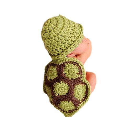 DAYAN Bébé Déguisements Costume Crochet Tricot Animaux 3~6 Mois garçon/fille Photographie Vêtement (Tortue)