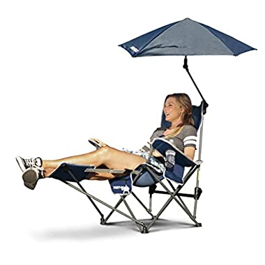 Sport-Brella Recliner Chair: 3-Position Recliner W/Full Coverage Umbrella