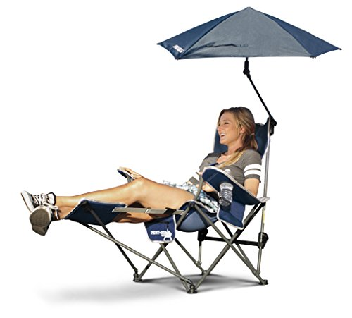 Sport-Brella 3-Position Recliner Chair with Removable Umbrella and Footrest,...