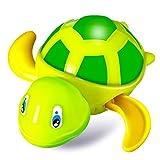 Juguetes de Baño para Bebés Tortuga Mecánica de Baño para Bebé Juguete de Tortuga de Cuerda de Baño Juguete de Flotador de Piscina Cuarto de Baño para Niños Pequeños, Niños, Niñas, Verde
