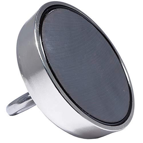 Bergemagnet 100 KG - Ösenmagnet Mit M12 Gewinde - 100mm Durchmesser mit Öse - Topfmagnet - Super Stark Power Magnete zum Magnetfischen