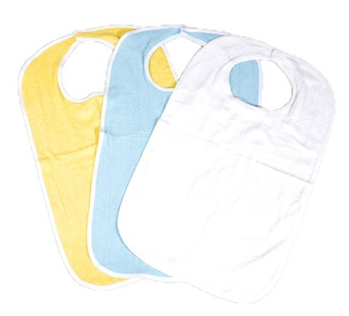 6 Pack of Soft Terry Cloth Adult Bibs