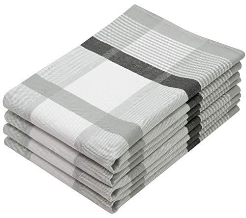 ZOLLNER 4er Set Geschirrtücher Baumwolle, 50x70 cm, grau (weitere verfügbar)