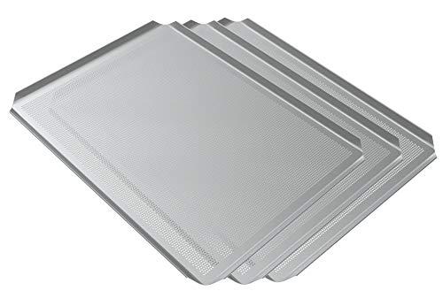 LEHRMANN baguetplaat (3 stuks) 45 x 35 cm WIESHEU ELOMA MIWE bakplaat geperforeerde plaat