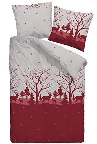 Dormisette Winter Bettwäsche Feinbiber Biber 135x200 / 80x80 5224-20