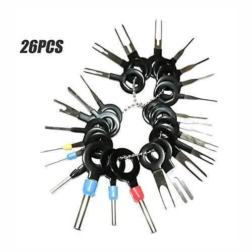 Autoaansluiting Gereedschapspen verwijderen elektrische trekker krimpdraadverbinder verwijderaar 26pcs