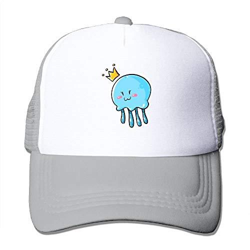 Jieaiuoo Cute Jellyfish Clipart Queen Trucker Hat Unisex Adult Baseball Mesh Cap Black