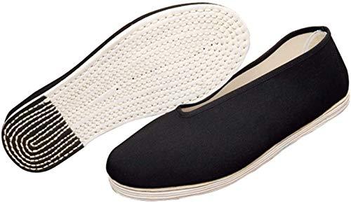 Mr. Hao Zapatos De Kung Fu - Zapatillas Cómodas para Hombre Artes Marciales Tradiciones Chinas Casuales Zapatos De Tai Chi,Black-MEUR41