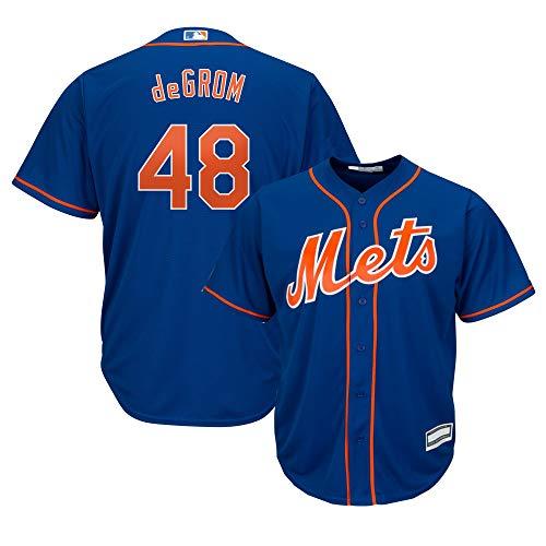 Jacob deGrom New York Mets MLB Boys Youth 8-20 Player Jersey (Blue Alternate, Youth Medium 10-12)