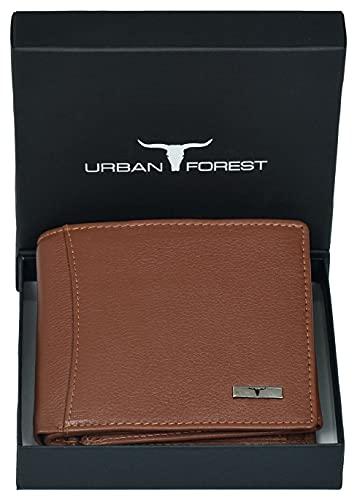 Urban Forest Oliver RFID Blocking Redwood Leather Wallet for Men
