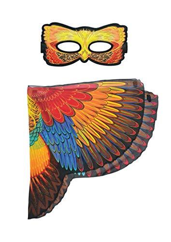 DREAMY DRESS-UPS 66537plástico alas alas, plástico Máscara Máscara, Multicolor