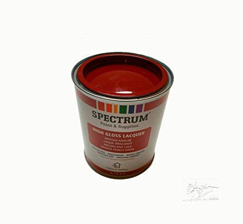 Spectrum Hochglanz Lack englisch rot für Innen u. Aussen 750 ml