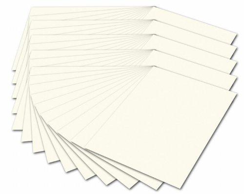 folia 614/50 01 - Fotokarton DIN A4, 300 g/qm, 50 Blatt, perlweiß - zum Basteln und kreativen Gestalten von Karten, Fensterbildern und für Scrapbooking