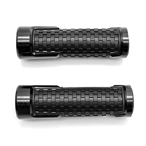 Adecuado para KYMCO AK550 AK 2017 2018 7/8 `` 22MM CNC Aleación De Aluminio Antideslizante Accesorios De Manillar De Motocicleta De Goma A Estrenar (Color : Black)