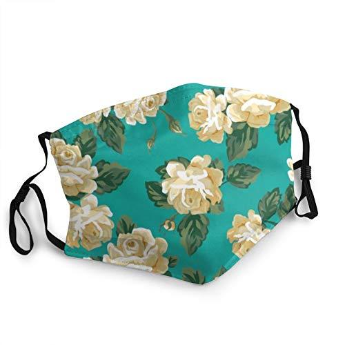 CAP PILLOW HOME Mascarilla de tela lavable Classic Rose reutilizable y ajustable contra el polvo de tela protectora