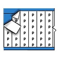 Brady WM-P-SML-PK Repositionable Vinyl Cloth (B-500) Black on White Solid Letters Wire Marker Card (25 Cards) [並行輸入品]
