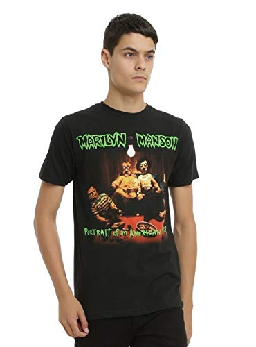 Hot Topic Marilyn Manson Portrait of An American Family Cover T-Shirt Men Cotton T-Shirt