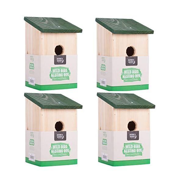 Kingfisher Wooden Nesting Nest Box Bird House Small Birds Blue Tit Robin Sparrow - Multi Deals Available