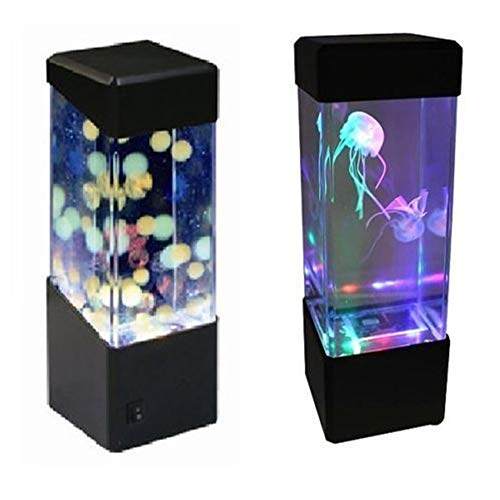 ZANGAO LED Desktop Light Jellyfish Fish Tank Aquarium LED Light Relaxing Bedside Mood Night Light Lamp (Color : Jellyfish lamp, Emitting Color : 5W)