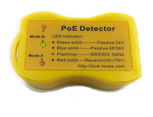 Detector de PoE, utilícelo para averiguar qué método de PoE está disponible, el voltaje aproximado y el pinout y la polaridad a través de luces LED