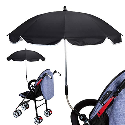 Sharplace 2xBaby Stroller Niños Cochecito Cochecito UV Sun Rain Protector Paraguas Blanco