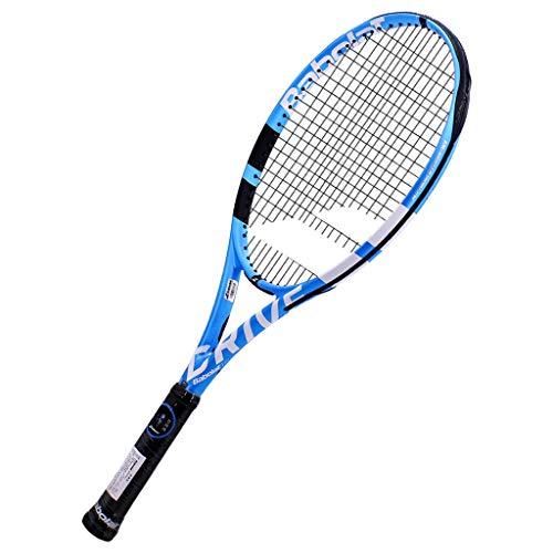 Raqueta de Tenis Primaria para Adultos, Estudiantes universitarios Masculinos y Femeninos, Raqueta de Tenis de Entrenamiento avanzado para Principiantes de Carbono Completo