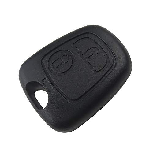 NSGJUYT Front Car Key Shell Fob Fob Cubierta Reemplazo de 2 Botones Funda en Blanco remota para Peugeot 107 206 207 306 307 407 Citroen