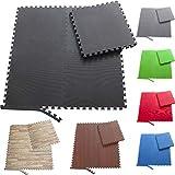 Sporttrend 24® - Fitness Schutzmatten Set 8 oder 24teilig schwarz 60x60x10cm | Bodenschutzmatte...