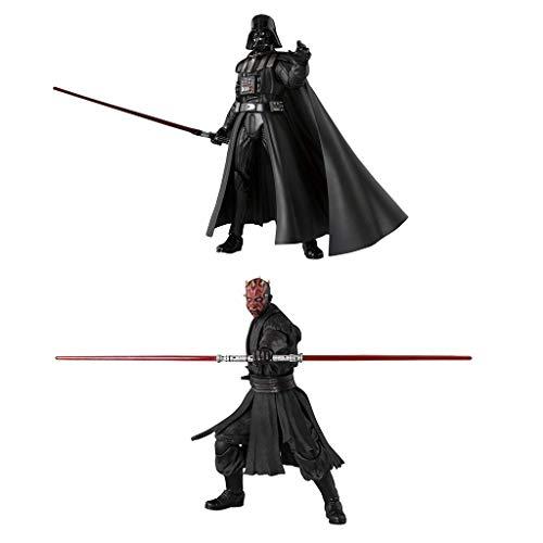 Siyushop Star Wars Darth Maul Figura De Acción Pintada De PVC ABS De 140 Mm - Star Wars Darth Vader Figura De Acción Pintada De PVC Y ABS De 155 Mm Pack Paquete De 2