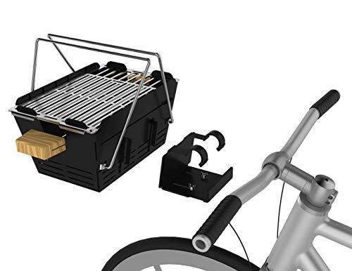 knister Grill Original mit Fahrradhalterung - Picknickgrill für Fahrrad Transport