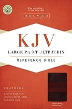 KJV Large Print Ultrathin Reference Bible, Saddle Brown LeatherTouch