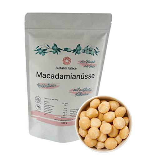 Sultan's Palace Macadamianüsse Ungesalzen – Naturbelassene Rohkostnüsse – Macadamia – Nuss Snack und für Müslis – Macadamia Nüsse – Rohkostqualität (Vegan) (200gr)