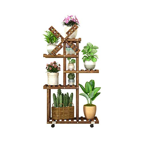 QPLKKMOI Flower Shelf Multi-storey Wood Plant Stands Shelf, Potted Planter Rack Storage Shelf