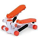 KHDJ Mini Stepper Fitnessgerät,Stair Stepper Tragbares Twist Stair Stepper Einstellbares Fitness-Trainingsgerät Mit Digitalen Monitorwiderstandsbändern
