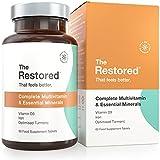 Tabletas Multivitamínicas, Vitamina C, D, Zinc, Hierro, Jengibre y Cúrcuma de alta potencia. Para hombres y mujeres, Vegano - 60 días