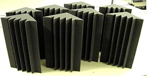 ONE (8 PACK) STUDIO ACOUSTIC CORNER BASS TRAPS CORNER BASE ABSORBERS CORNER WALL (8'' x 8'' x 24'')