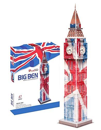 3D-Puzzle, Modell Big Ben, Laserschnitt-Puzzle, geeignet für Jugendliche und Erwachsene, Geschenk