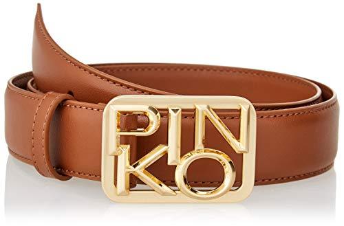 Pinko Day Simply Belt Vit.Seta+Chain Cintura, L58_Cognac, L Donna