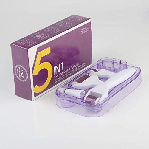QJXF Cinco-En-Uno Rodillo Micro-Aguja 5In1 Aleación De Titanio Micro-Aguja Facial 540 Rodillo Belleza Micro-Aguja Cuidado De La Piel Conjuntos