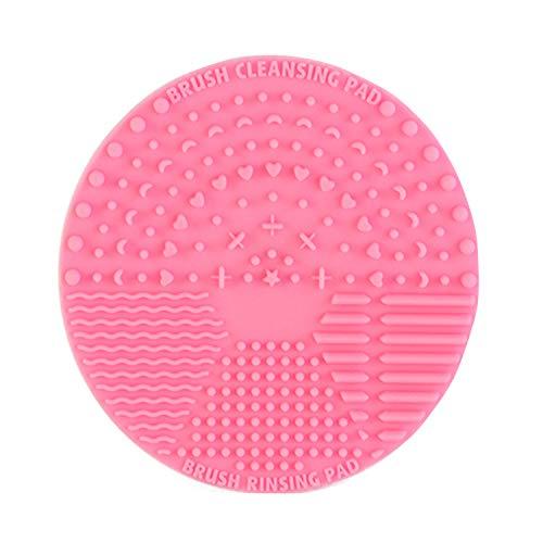 Limpiador de brochas de maquillaje de silicona, limpiador de brochas de maquillaje, alfombrilla de limpieza de cepillo cosmético,