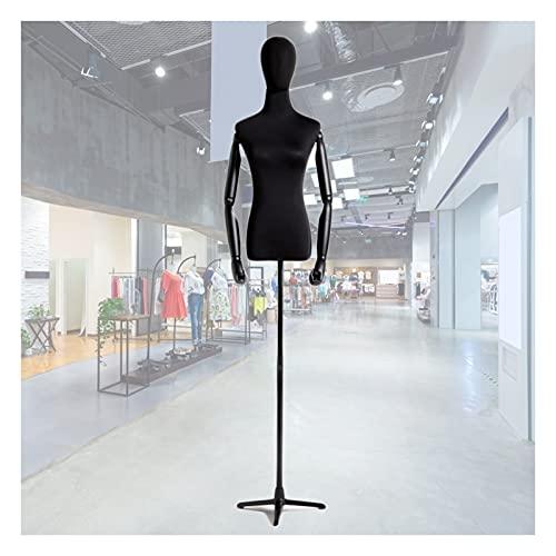 HAIPENG Maniquí de Costura Busto Hembra, Apoyos del Modelo con Brazos Madera Y Cabeza, Escaparate Soporte Exhibición Ropa Altura Ajustable, 2 Tamaños (Color : D, Size : Small)