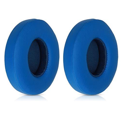 kwmobile Almohadillas compatibles con Beats Solo 2 Wireless / 3-2X Almohadilla de Repuesto para Cascos y Auriculares en Cuero sintético