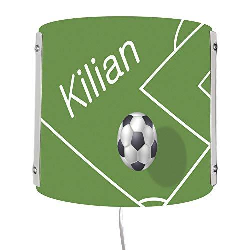 CreaDesign WA-1019, Fußball, Kinderzimmer Wandlampe personalisiert mit Namen, Nachtlicht/Schlummerlicht für Steckdose, E14, 22 x 22,5 x 85 cm